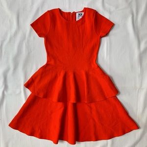 Milly mini orange ruffle dress . Size 6/7